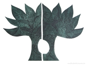 """First Tree"" 2011. 22""x30"" collagraph"