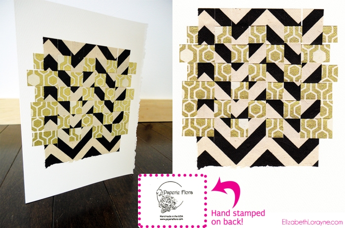 """Chevron Honey"" collage card bundle"