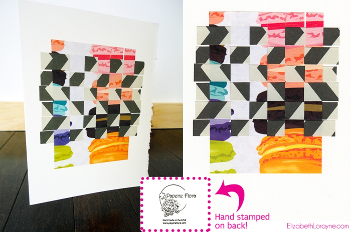 """Macaroon & Chevron"" collage card bundle"