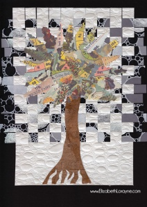 """Winter Tree"" 2011. 11""x14"" collage"