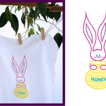 "Elizabeth Lorayne kids wear: ""Honey Bunny"" original design"