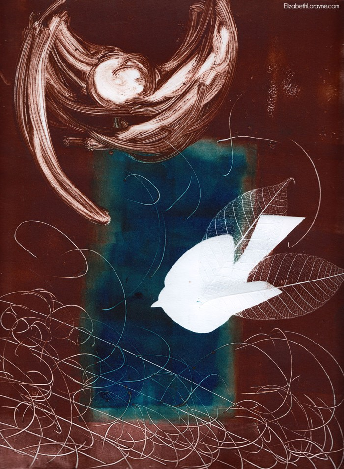 """First Bird"" 2005. monotype"