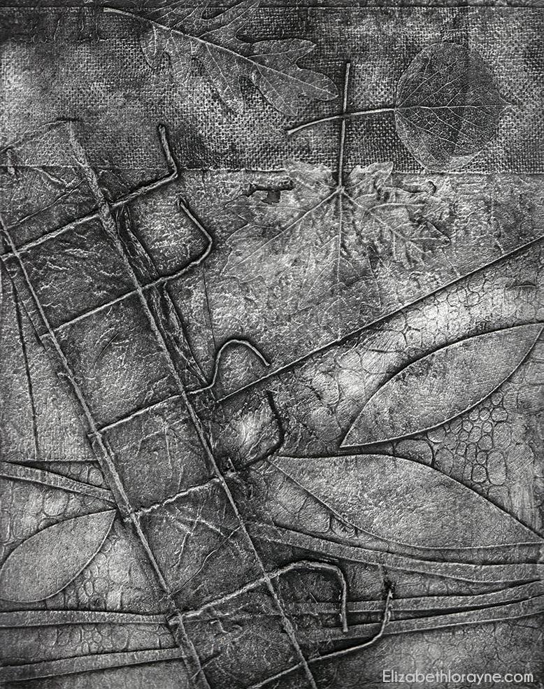 """""""River"""" 2007. collagraph"""