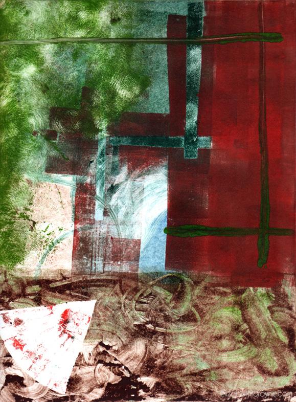 """Untitled,"" 2003. 9"" x 12"" Monotype"