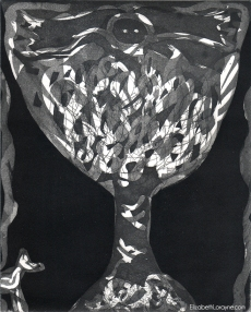 """Totem Tree"" (Final) 2011. Drypoint, Etching, Aquatint"