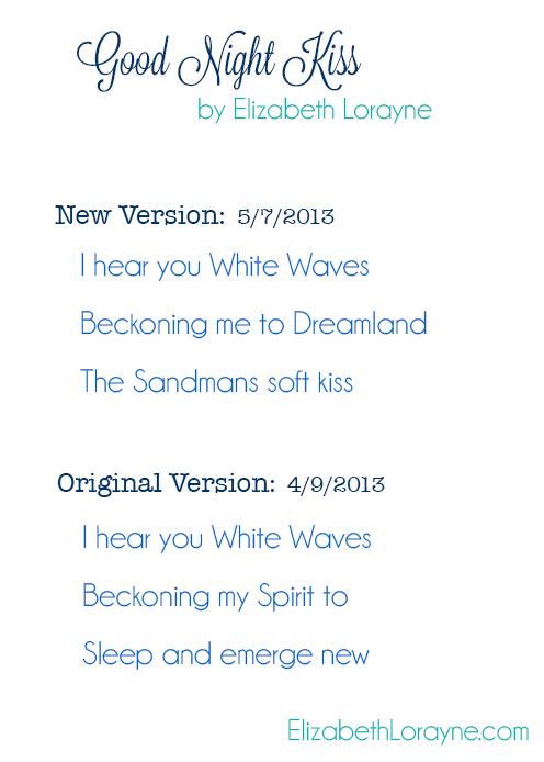 "Elizabeth Lorayne: ""Good Night Kiss"" revision"