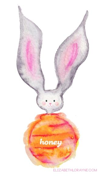 """Elizabeth Lorayne: Watercolor """"Honey Bunny"""""""