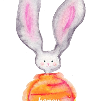 "Elizabeth Lorayne: Watercolor ""Honey Bunny"""