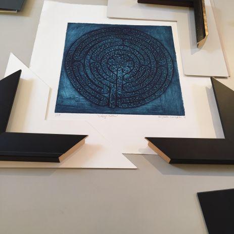 Labyrinth frame Walsingham Gallery
